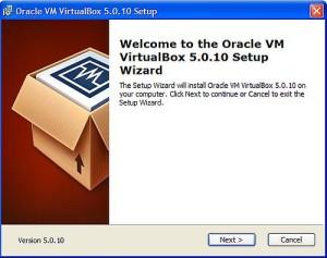 vitualbox процесс установки шаг 1