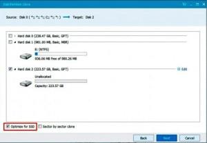 Отмечаем Оptimize for SSD