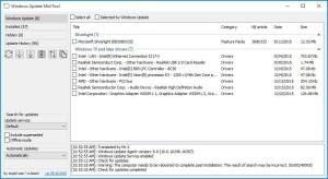 окно программы windows update minitool
