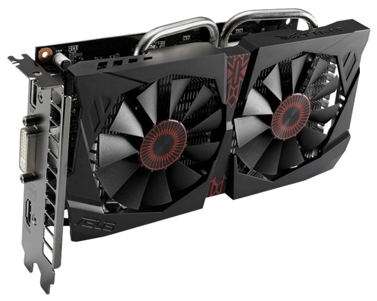 Видеокарта ASUS GeForce GTX 750 Ti 1202Mhz PCI-E 3.0 2048Mb 5400Mhz 128 bit DVI HDMI HDCP STRIX-GTX750TI-OC-2GD5 STRIX-GTX750TI-OC-2GD5